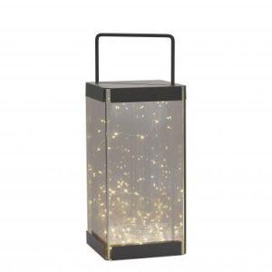 Villa Collection lantaarn – 15x15x40 cm – inclusief 30 lampjes