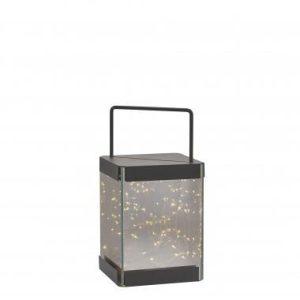 Villa Collection lantaarn – 15x15x30 cm – inclusief 30 lampjes