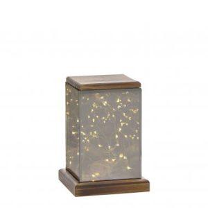 Villa Collection lantaarn – 12x12x17,5 cm – inclusief 30 lampjes