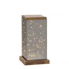 Villa Collection lantaarn – 12x12x22,5 cm – inclusief 30 lampjes